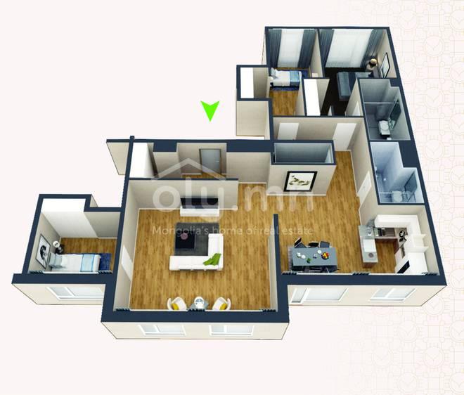 ID 270, Khoroo 4 байршилд for rent зарын residential Apartment төсөл 1