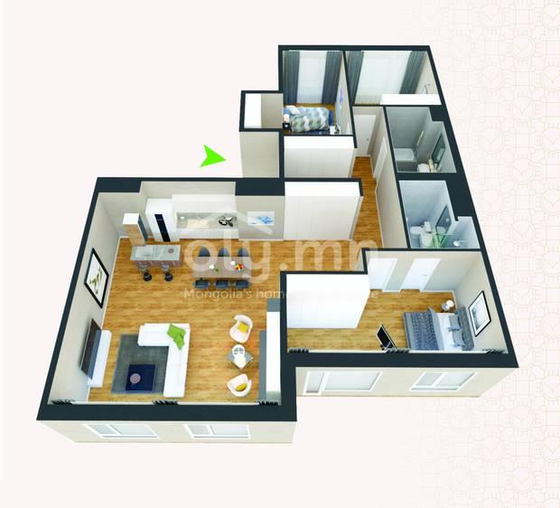 ID 271, Khoroo 4 байршилд for rent зарын residential Apartment төсөл 1