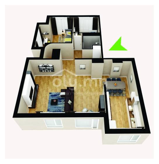 ID 275, Khoroo 4 байршилд for rent зарын residential Apartment төсөл 1