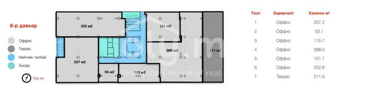 ID 177, Khoroo 15 байршилд for sale зарын commercial Offices төсөл 1