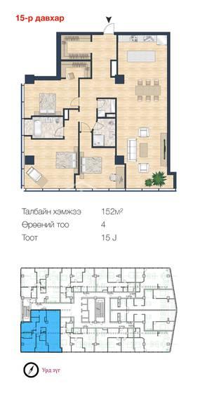 ID 178, Khoroo 15 байршилд for sale зарын residential Apartment төсөл 1