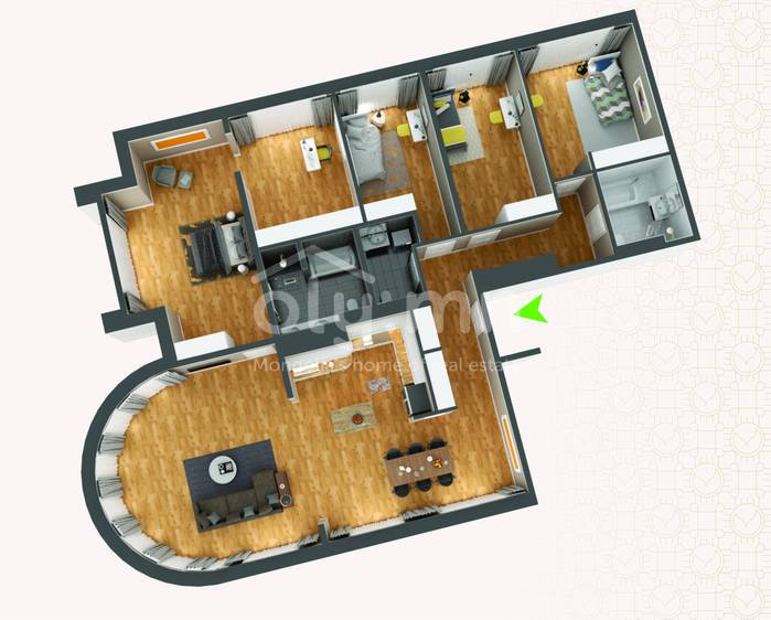 ID 272, Khoroo 4 байршилд for rent зарын residential Apartment төсөл 1
