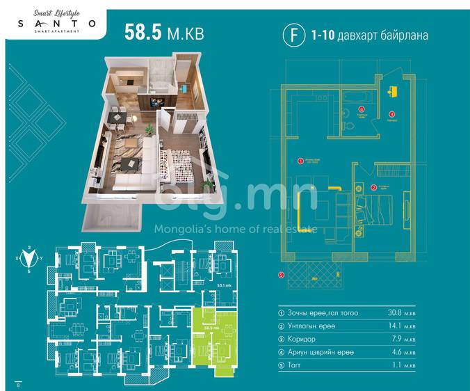 ID 466, Khoroo 26 байршилд for sale зарын residential Apartment төсөл 1