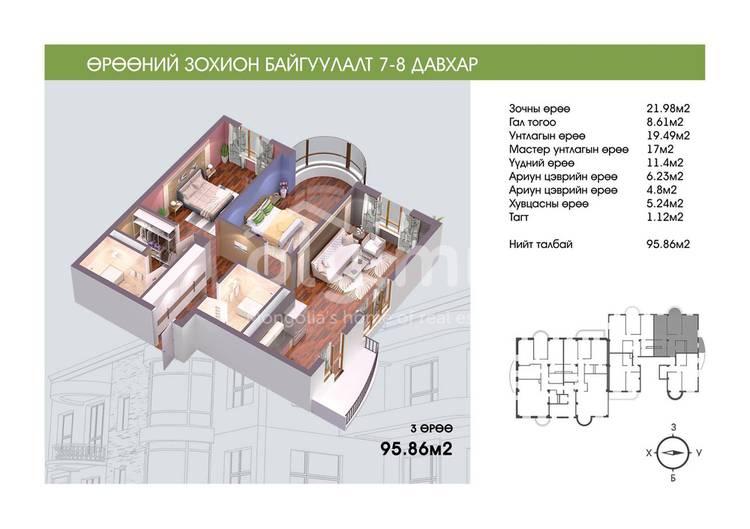 ID 243, Khoroo 11 байршилд for sale зарын residential Apartment төсөл 1
