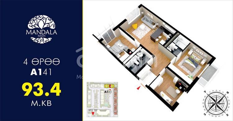 ID 95, Khoroo 26 байршилд for sale зарын residential Apartment төсөл 1