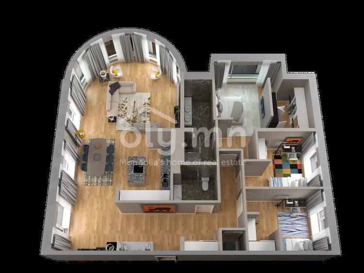 ID 265, Khoroo 4 байршилд for rent зарын residential Apartment төсөл 1
