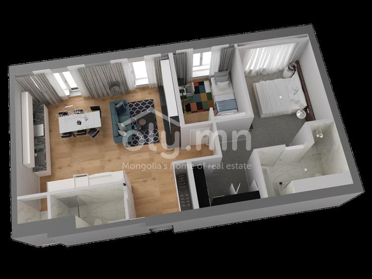 ID 260, Khoroo 4 байршилд for rent зарын residential Apartment төсөл 1