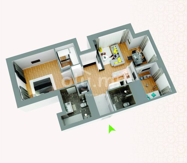 ID 256, Khoroo 4 байршилд for rent зарын residential Apartment төсөл 1