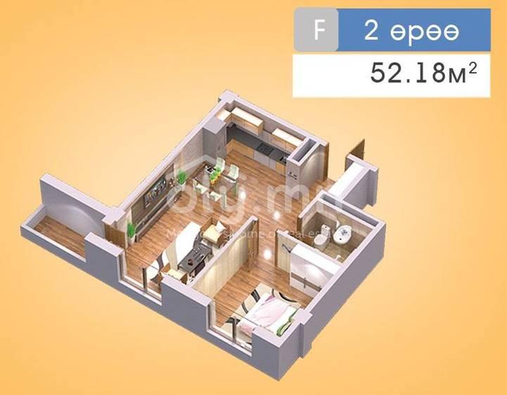 ID 205, Khoroo 22 байршилд for sale зарын residential Apartment төсөл 1