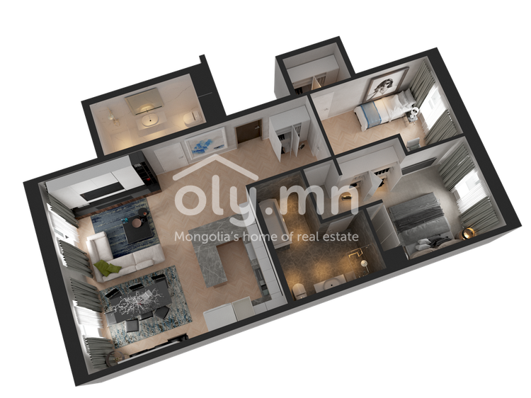 ID 254, Khoroo 4 байршилд for rent зарын residential Apartment төсөл 1