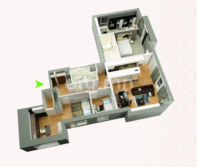 ID 266, Khoroo 4 байршилд for rent зарын residential Apartment төсөл 1