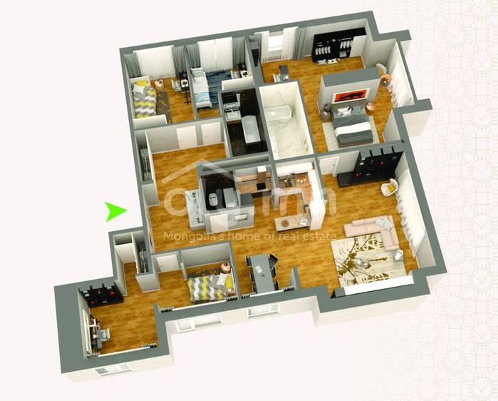 ID 273, Khoroo 4 байршилд for rent зарын residential Apartment төсөл 1
