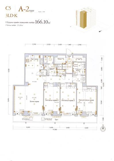 ID 140, Khoroo 15 байршилд for rent зарын residential Apartment төсөл 1