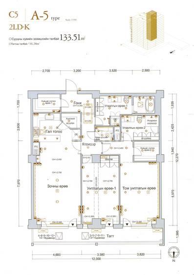 ID 141, Khoroo 15 байршилд for rent зарын residential Apartment төсөл 1