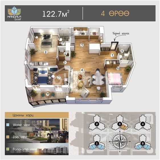 ID 994, Khoroo 4 байршилд for sale зарын residential Apartment төсөл 1