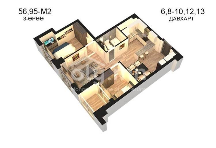 ID 794, Khoroo 14 байршилд for sale зарын residential Apartment төсөл 1