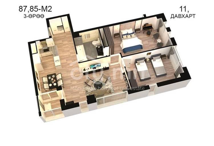 ID 822, Khoroo 14 байршилд for sale зарын residential Apartment төсөл 1