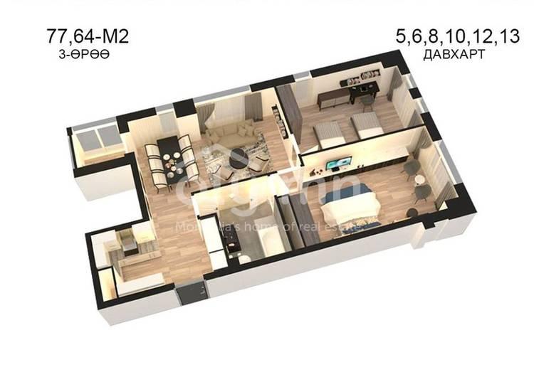 ID 814, Khoroo 14 байршилд for sale зарын residential Apartment төсөл 1