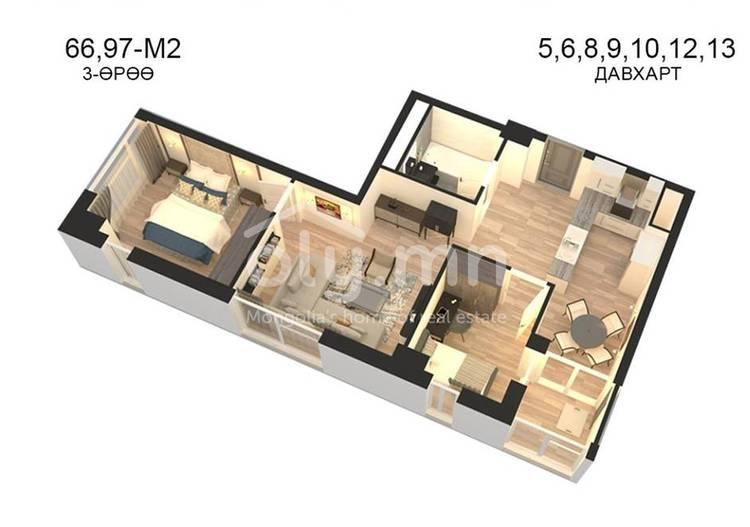 ID 801, Khoroo 14 байршилд for sale зарын residential Apartment төсөл 1