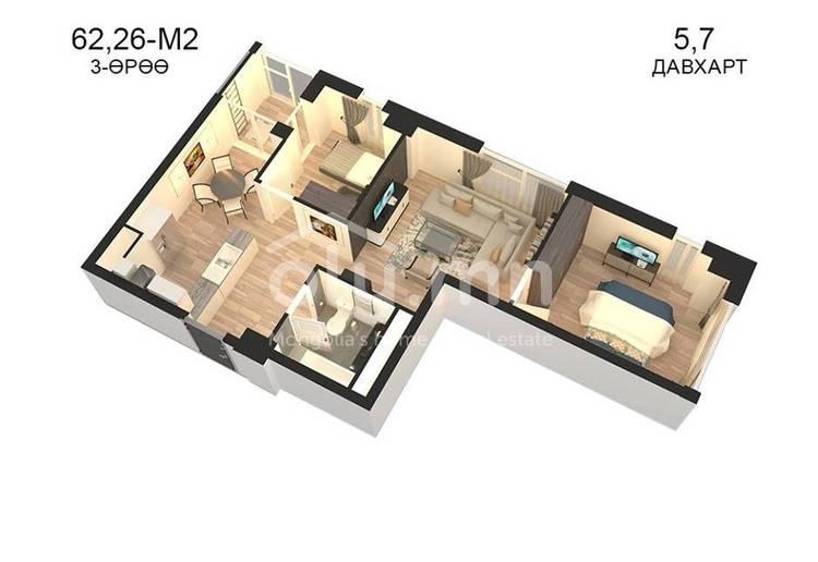 ID 796, Khoroo 14 байршилд for sale зарын residential Apartment төсөл 1
