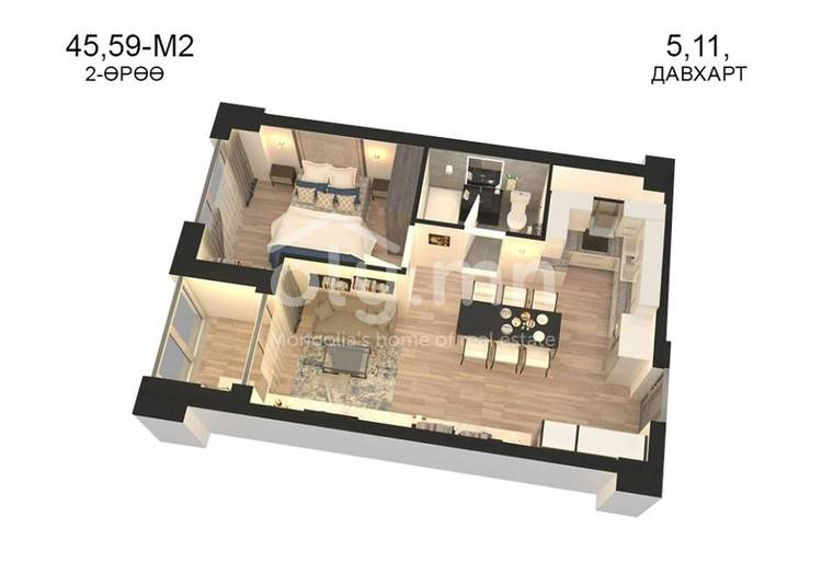 ID 790, Khoroo 14 байршилд for sale зарын residential Apartment төсөл 1