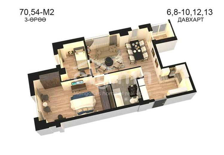 ID 813, Khoroo 14 байршилд for sale зарын residential Apartment төсөл 1
