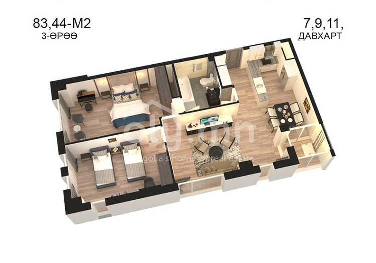 ID 820, Khoroo 14 байршилд for sale зарын residential Apartment төсөл 1