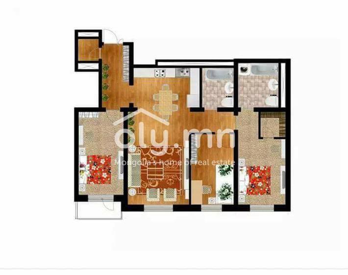 ID 1205, Khoroo 26 байршилд for sale зарын residential Apartment төсөл 1