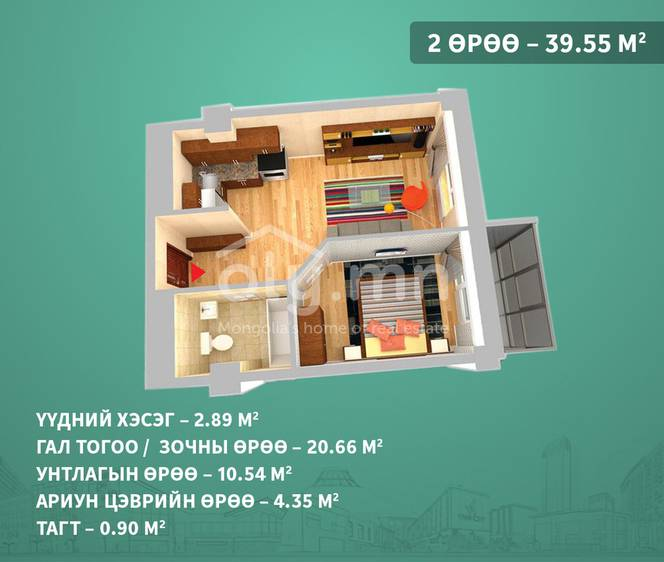ID 1402, Khoroo 3 байршилд for sale зарын residential Apartment төсөл 1