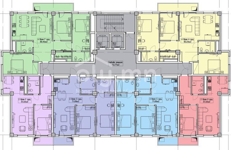 ID 1364, Khoroo 4 байршилд for sale зарын residential Apartment төсөл 1