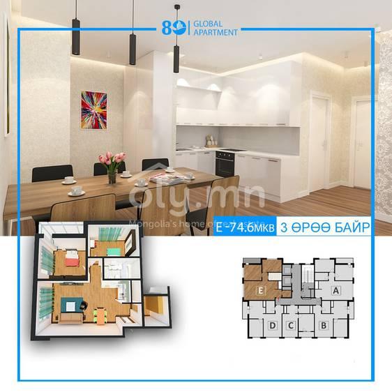 ID 1282, Khoroo 4 байршилд for sale зарын residential Apartment төсөл 1
