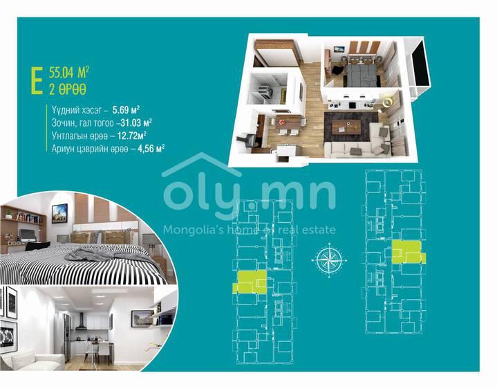 ID 1394, Khoroo 4 байршилд for sale зарын residential Apartment төсөл 1