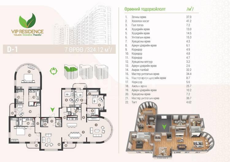ID 1293, Khoroo 4 байршилд for rent зарын residential Apartment төсөл 1