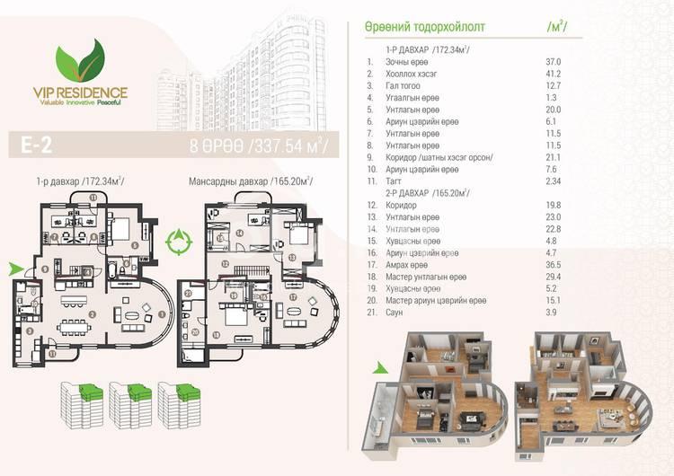 ID 1295, Khoroo 4 байршилд for rent зарын residential Apartment төсөл 1