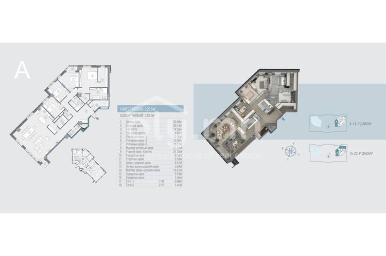 ID 164, Khoroo 11 байршилд for sale зарын residential Apartment төсөл 1