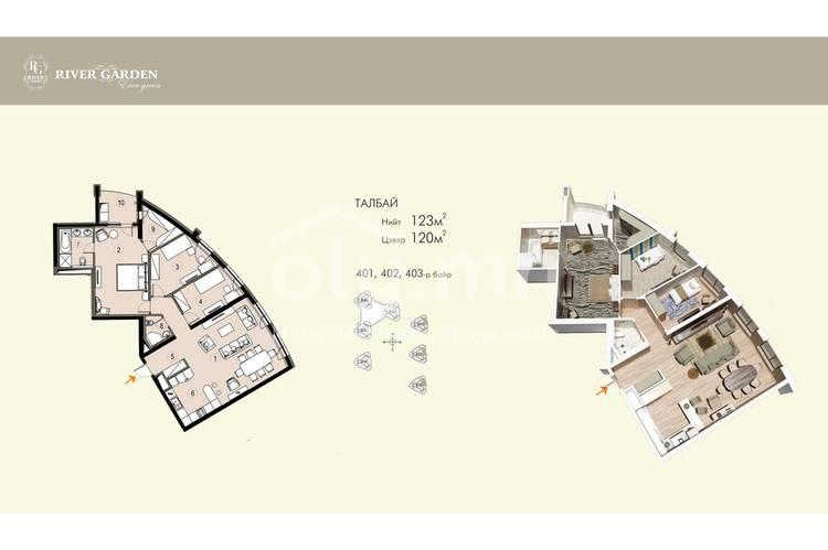 ID 165, Khoroo 11 байршилд for sale зарын residential Apartment төсөл 1