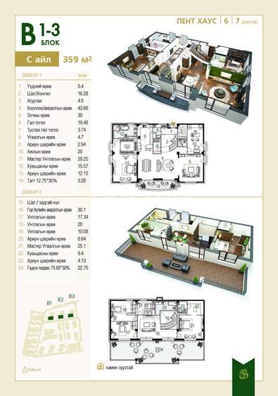 ID 1430, Khoroo 15 байршилд for sale зарын residential Apartment төсөл 1