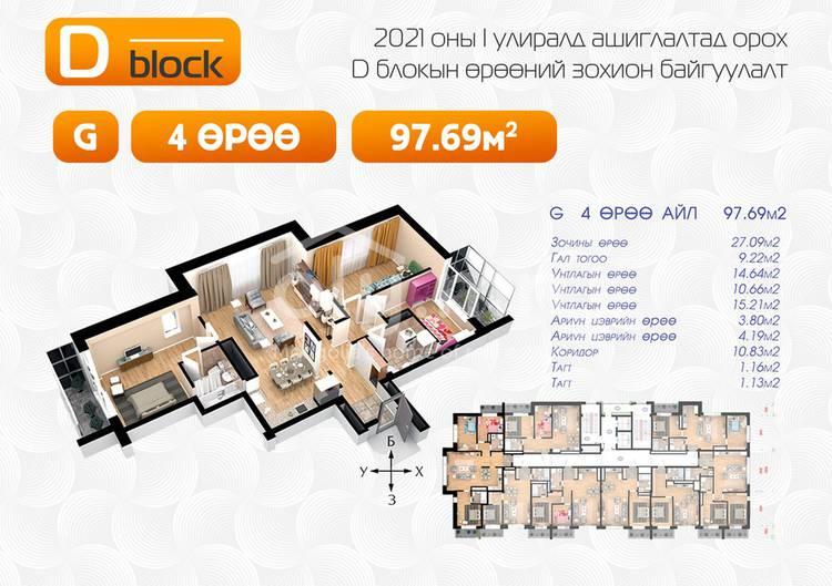 ID 1643, Khoroo 2 байршилд for sale зарын residential Apartment төсөл 1