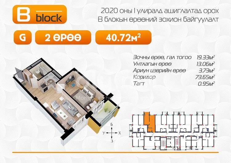 ID 1624, Khoroo 2 байршилд for sale зарын residential Apartment төсөл 1