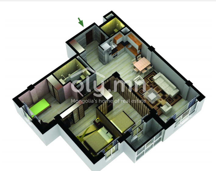 ID 1436, Khoroo 26 байршилд for sale зарын residential Apartment төсөл 1