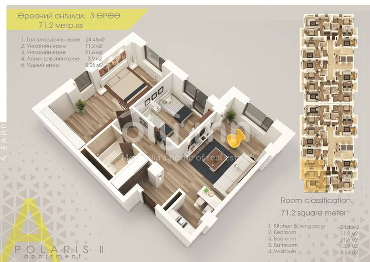 ID 1872, Khoroo 10 байршилд for rent зарын residential Apartment төсөл 1