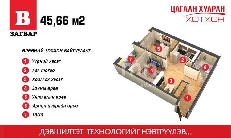 ID 1862, Khoroo 14 байршилд for sale зарын residential Apartment төсөл 1