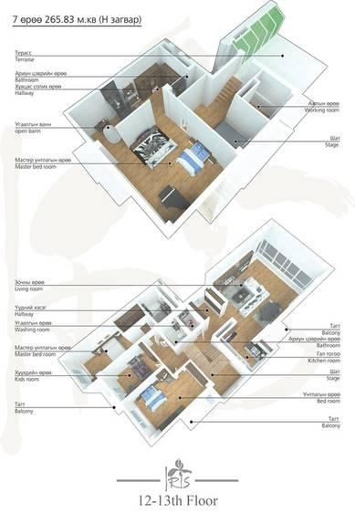 ID 2005, Khoroo 4 байршилд for rent зарын residential Apartment төсөл 1