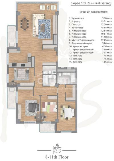 ID 2003, Khoroo 4 байршилд for rent зарын residential Apartment төсөл 1