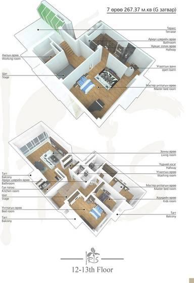 ID 2006, Khoroo 4 байршилд for rent зарын residential Apartment төсөл 1