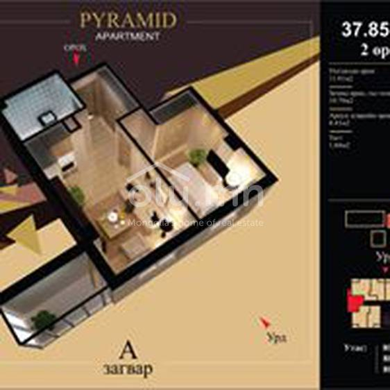 ID 2176, Khoroo 10 байршилд for rent зарын residential Apartment төсөл 1