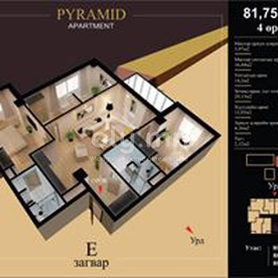 ID 2186, Khoroo 10 байршилд for rent зарын residential Apartment төсөл 1