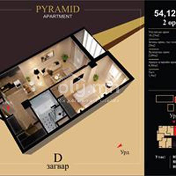 ID 2180, Khoroo 10 байршилд for rent зарын residential Apartment төсөл 1