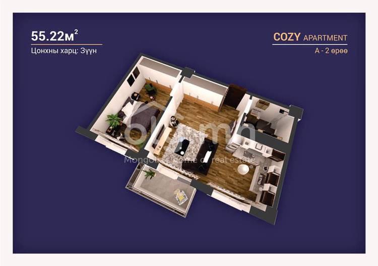 ID 2245, Khoroo 3 байршилд for sale зарын residential Apartment төсөл 1