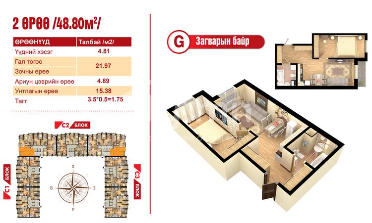 ID 2102, Khoroo 14 байршилд for sale зарын residential Apartment төсөл 1